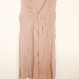Vintage Dresses - Vintage MADE ITALY LAGENLOOK 100% Linen Dress-S